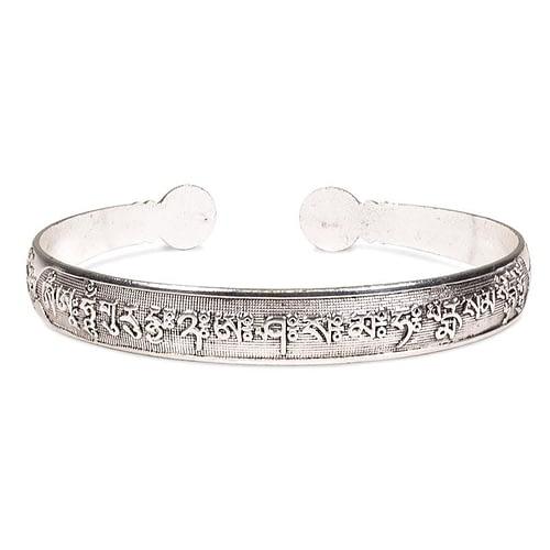Bracelet en argent Miao avec Mantra OMPMH