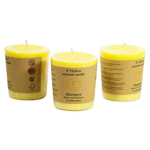 Scented votive candle 3nd chakra
