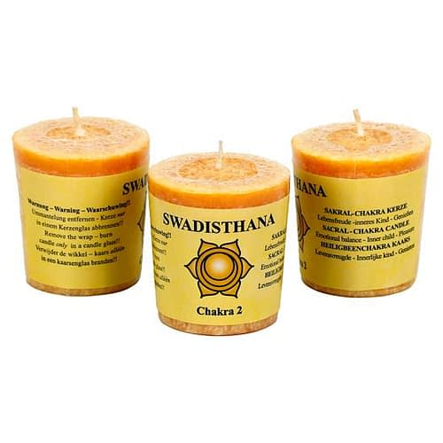 Scented votive candle 2nd chakra