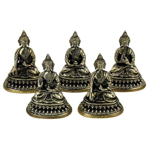 Set 5 Dhyani Buddha statues