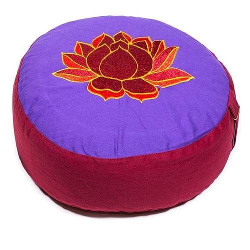 Meditationskissen Lotus violett/rot/orange