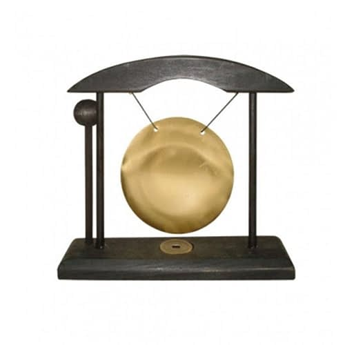 Table Gong small black and golden