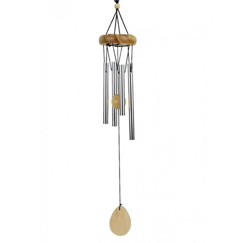 Windchime four chimes with natural wood