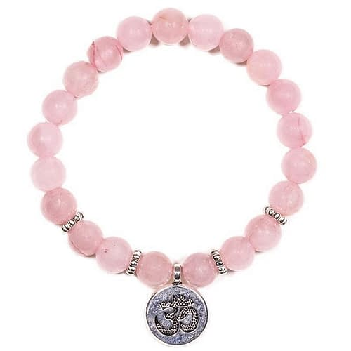 Mala/bracelet rose quartz elastic with ohm