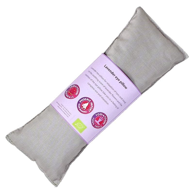 Oogkussen lavendel biologisch taupe