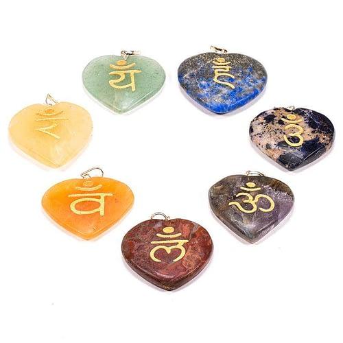 Pierres du souci, pierres Wicca, pierres des Chakras