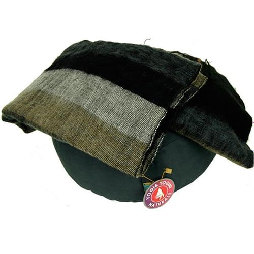Schal für die Meditation Schwarz mit Streifen