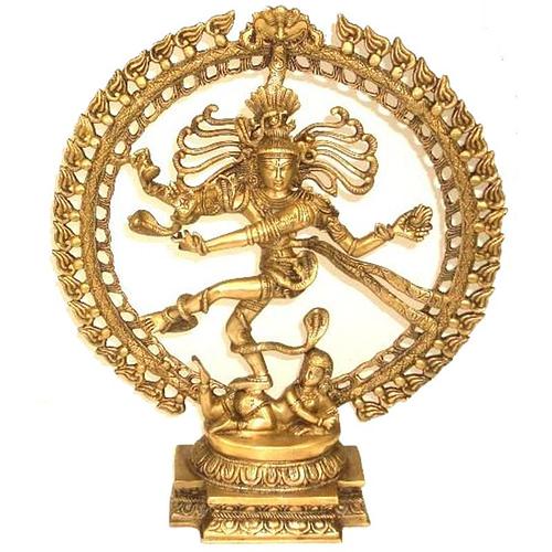 Shiva Nataraj brass monochrome medium