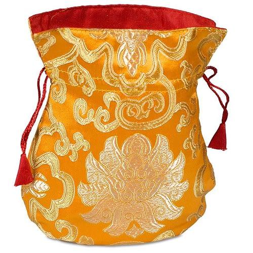 Bag brocade lotus orange