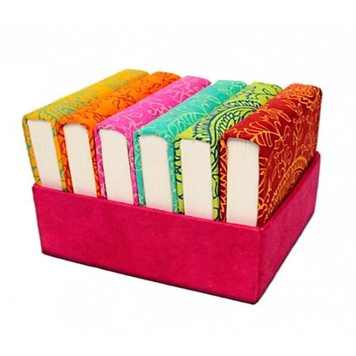 Notebooks SET or 6 in handmade showcase