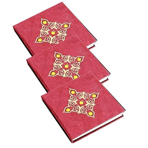 Notebook red with little stones M