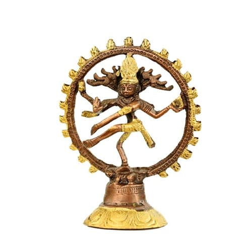 Shiva Nataraja brass two-colour