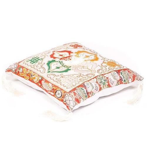 Cushion Singing Bowl de luxe double dorje white