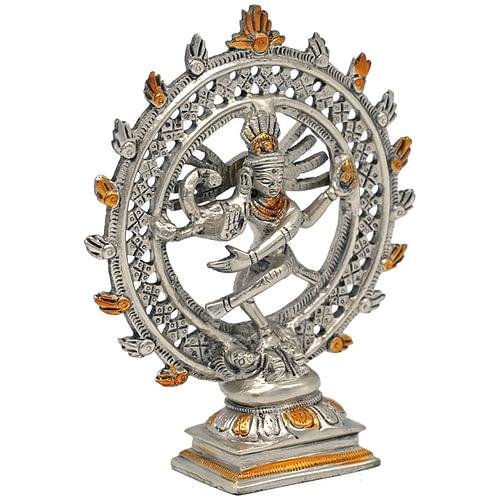 Shiva Nataraja brass doubble ring two coloured
