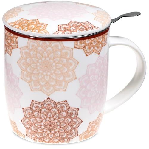 Set Teetasse Mandala rosa