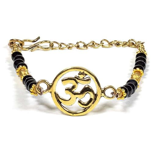 Bracelet om avec onyx noir