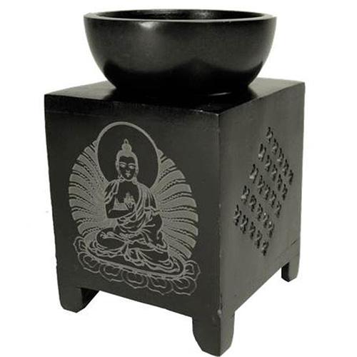 Oil burner soapstone Buddha
