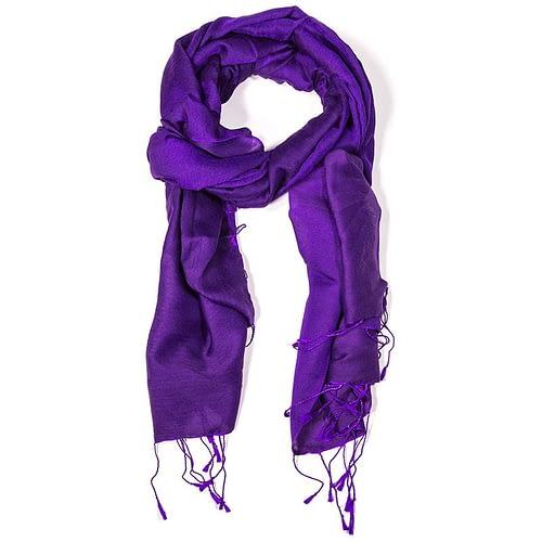 Chakra Schal violett