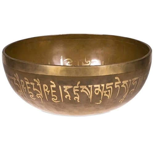 Singing Bowls with engraved Buddhas