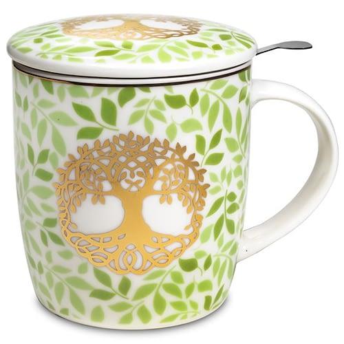 Gift box Tea Infuser Mug Tree of Life 2 pieces
