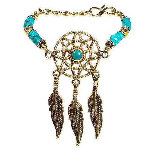 Bracelet attrape-rêves couleur turquoise