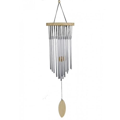 Windchime 22 chimes with natural wood