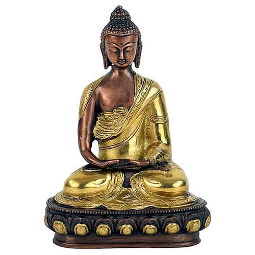 Buddha Amitabha statue two-coloured