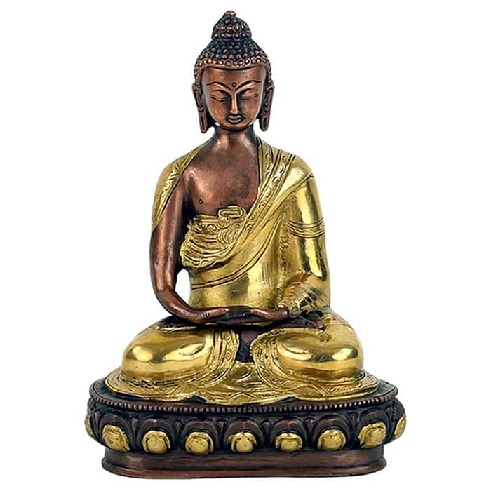 Buddha Amitabha statue two-coloured