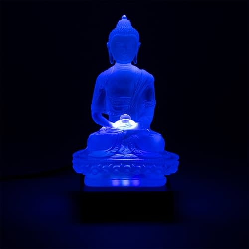 Amithaba boeddha transparant wit