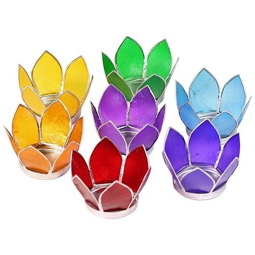 Lotus Lichte 7 x klein Silberrändern