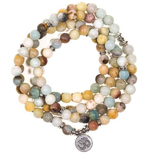 Mala amazon stone elastic with Ohm