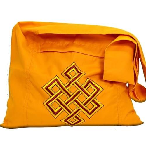 Lama Bag orange with endless knott