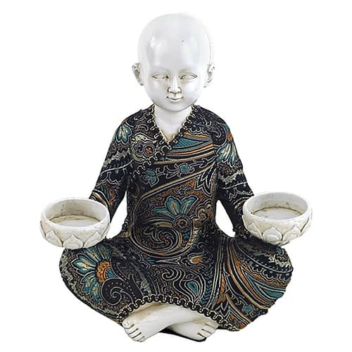 Little Monk with 2 tealight holders