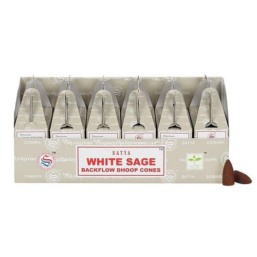White sage backflow incense cones