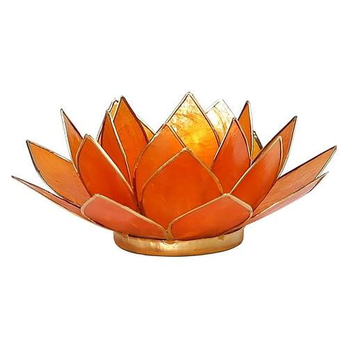 Eclairage Lotus 2° Chakra orange et or