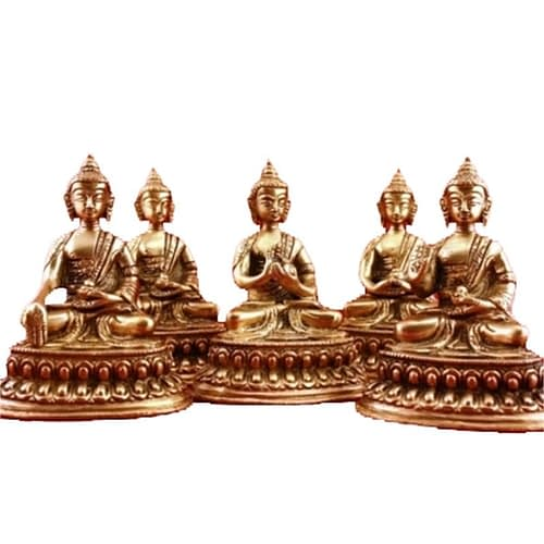 SET 5 Dhyani Buddha mini-statuettes