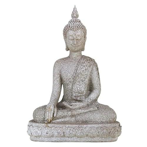 Buddha Thai Touching Earth Gesture grey colour