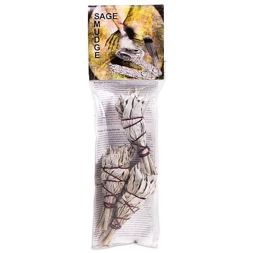 White Sage mini smudge pack of 3