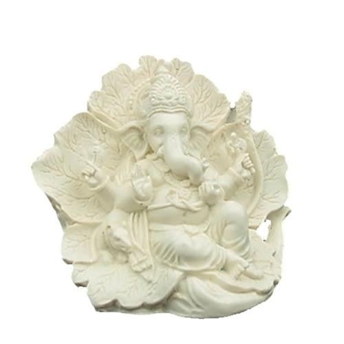 Ganesh statue ridhi sidhi white