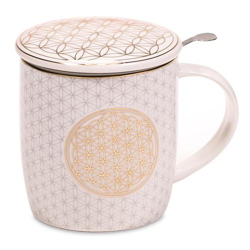 Set Teetasse Blume des Lebens