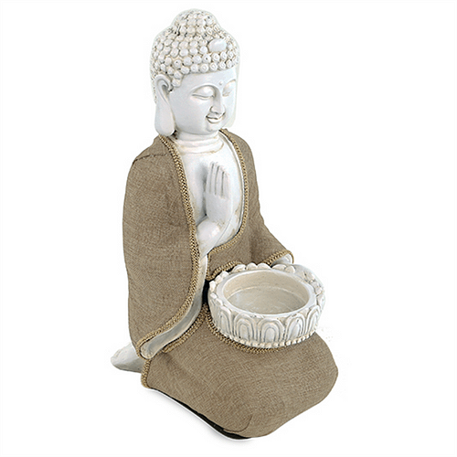 Peace Buddha with tea light holder