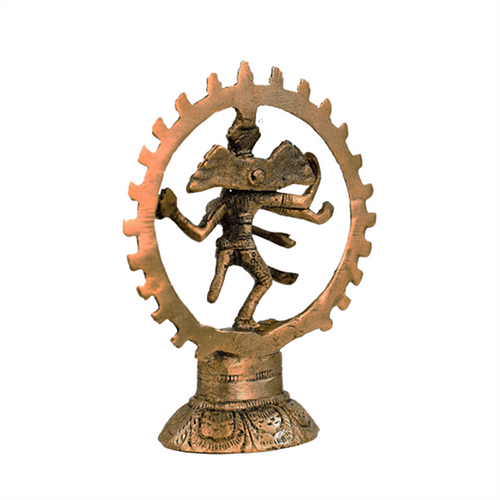 Shiva Nataraja brass monochrome