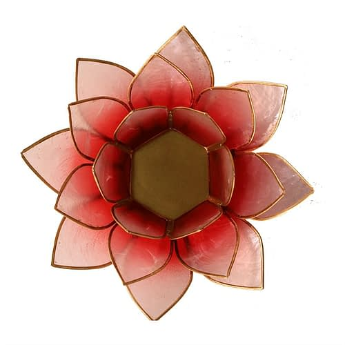 Lotus atmospheric light red rose gold trim