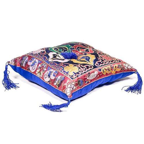 Singing Bowl cushion de luxe double dorje blue