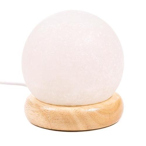 Mini Mood Salt Lamp sphere white USB + LED