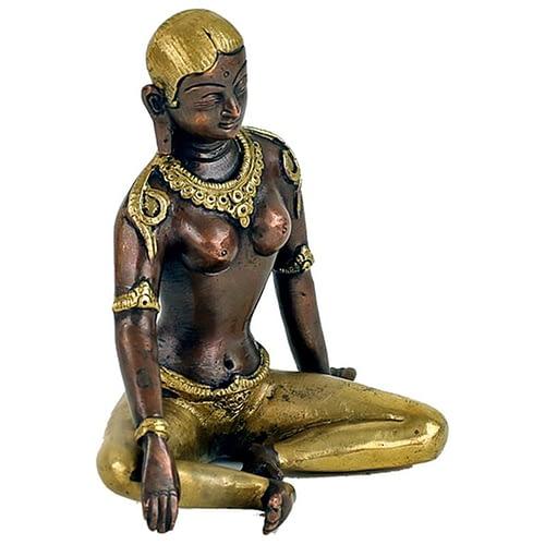 Parvati statue two-coloured