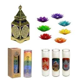 Kerzen und Teelichthalter