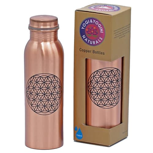 Copper Bottle Flower of Life printed 750 ml