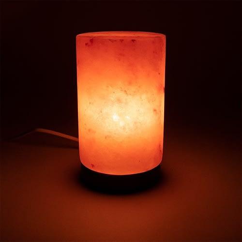 Crystal salt lamp cylinder