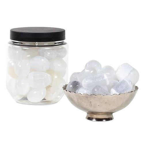 Selenite tumblestones